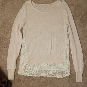 Tops - Cute lace back sweater